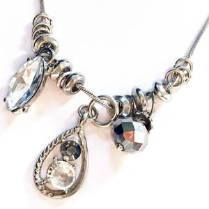 NY silver necklace with pendant